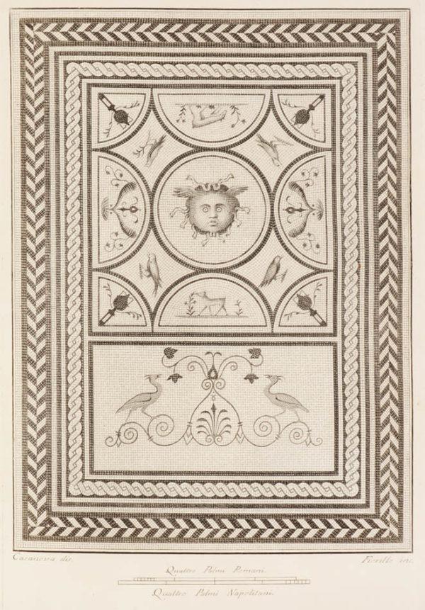 ed i pavimenti delle stanze dell'antica Pompei incisi in rame. - 3