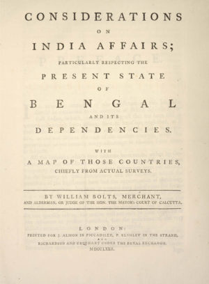 William. Considerations on India affairs;