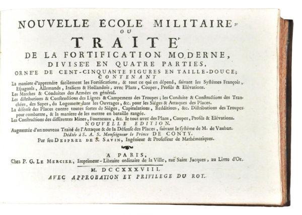 Deprez Pierre Samuel. Nouvelle ecole militaire