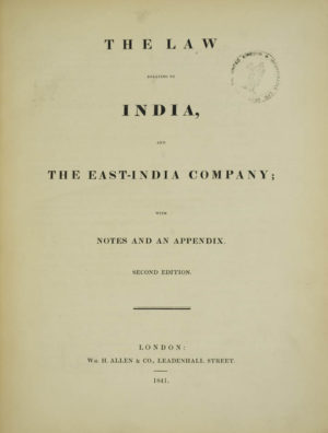 and the East-India Company;