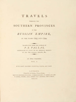 P[eter] S[imon] and C[hristian] G[ottfried] H[einrich] GEISSLER (artist). Travels through the Southern Provinces of the Russian Empire