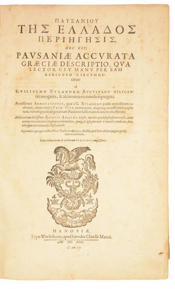 PAUSANIUS. Accurata Graeciae Descriptio. - 3