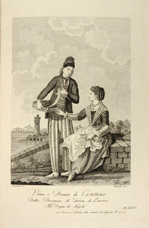 Vincenzo; Nicola Gervasi. Raccolta di sessanta piu belle vestiture che si costumano nelle provincie del regno di Napoli. - 2