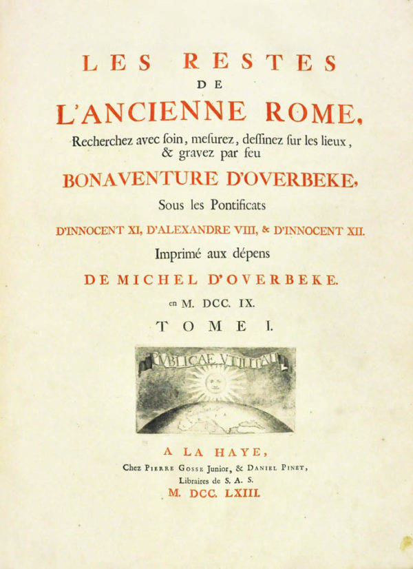 Bonaventura Van. Les restes de l'ancienne Rome