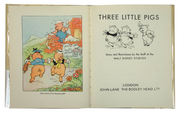[WALT DISNEY]. Three Little Pigs. - 2