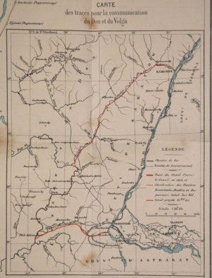 Leon. Projet de canal entre le Don et la Volga.