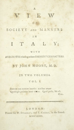 John. A view of society and manners in Italy ...