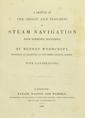 Bennet. A sketch of the origin and progress of steam navigation