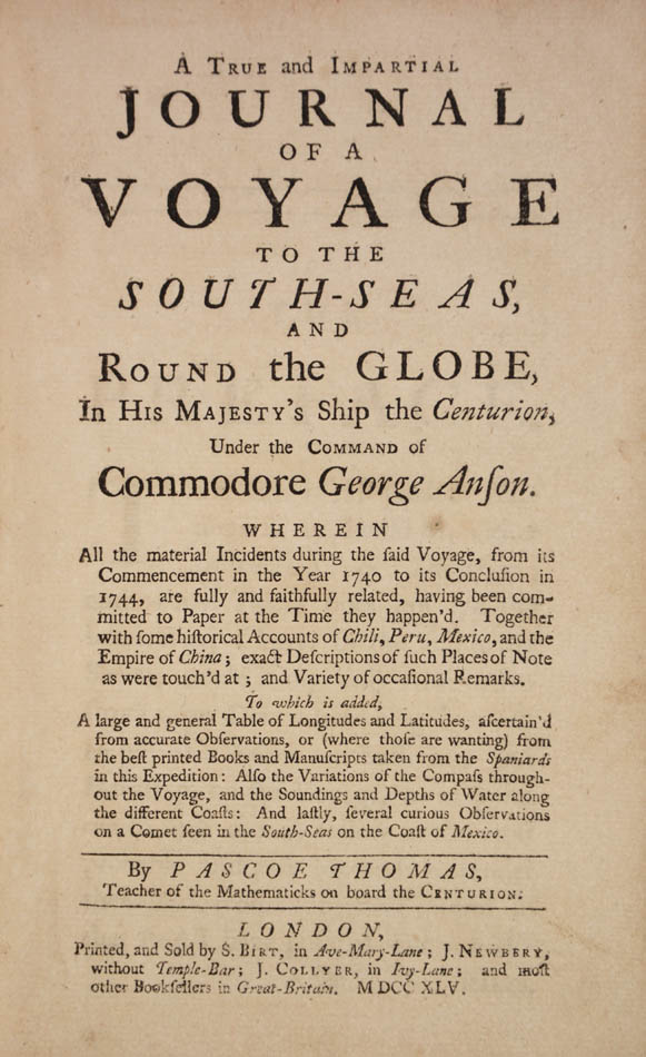 Pascoe. A true and impartial Journal of a Voyage to the South-Seas