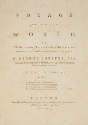 Georg; Johann Reinhold FORSTER. A Voyage round the World