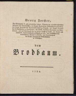 Georg. Von Brodbaum.