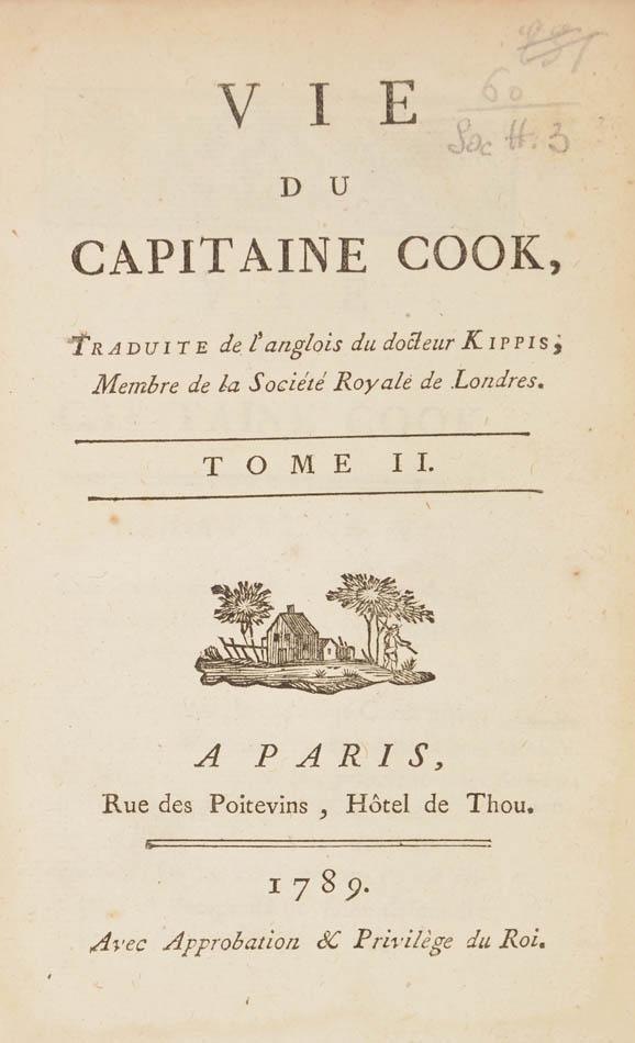 Andrew;] J.H. CASTERA (translator). Vie du Capitaine Cook ...