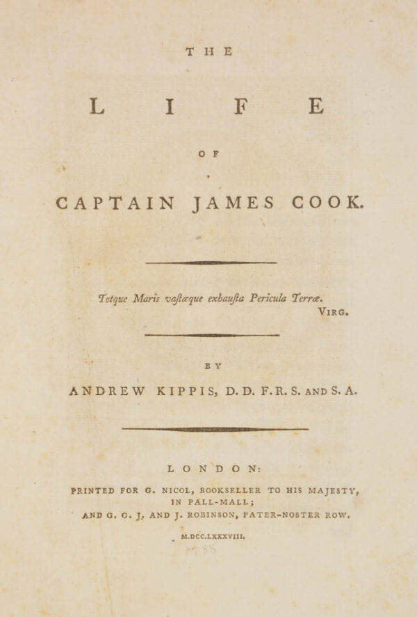 Andrew. The Life of Captain James Cook.