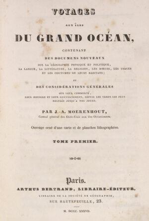 Jacques Antoine. Voyages aux iles du Grand Ocean.