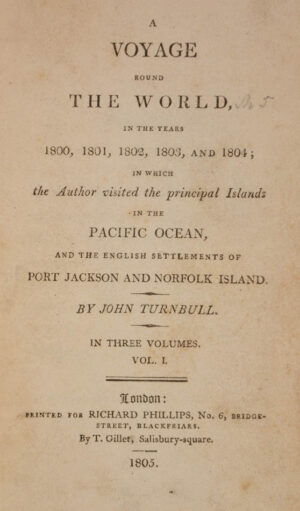 John. A Voyage round the World in the Years 1800