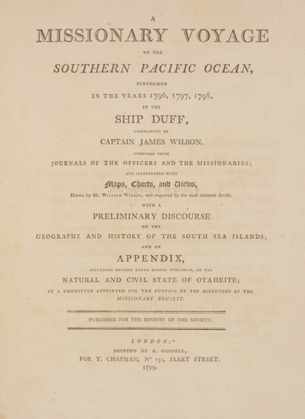 Captain James. A missionary Voyage to the southern Pacific Ocean