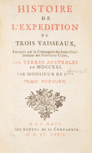 Carl Friedrich]. Histoire de l'expedition de trois vasseaux