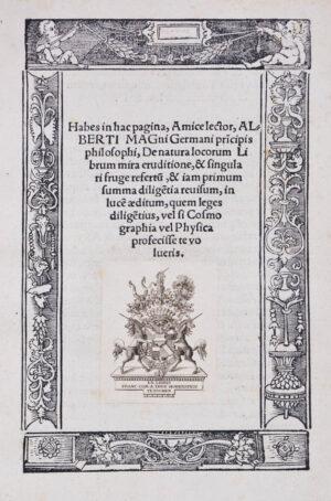 1. ALBERTUS MAGNUS. De Natura locorum